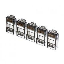20pcs color Netrack plugs RJ45 8p8c black transparent UTP for solid cable cat5e