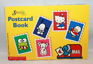 Scholastic Sanrio Postcard Book Hello Kitty Keroppi Pochacco Pekkele Spottie