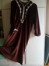 Caftano lungo velluto donna originale arabo