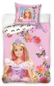 Barbie Pink Bedding Single Butterfly Princess Cover & Pillow Duvet cover