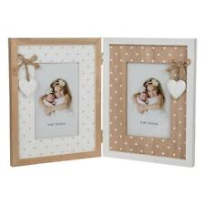 Provence Vintage Style Natural Heart Double Photo Picture Frame 271003