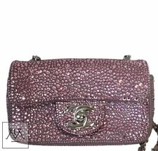 Chanel Mini Bag Pink Swarovski Crystals Limited Edition - 100% Authentic