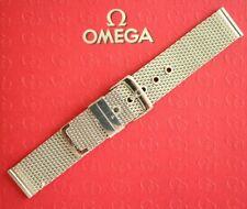 NOS 20MM FINEST FLAT LINK MESH S/S WATCH BAND WATCHBAND BRACELET STRAP FOR OMEGA