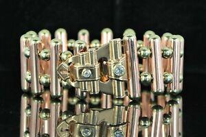 Rare Estate Vintage Van Cleef Arpels 14K Rose Yellow Gold Miner Diamond Bracelet