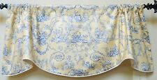 """THIBAUT  """"Paysannerie"""" Yellow And Blue -Window Valance/  FRENCH COUNTRY TOILE"""