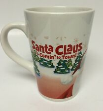 Santa Claus Is Comin' To Town Coffee Cocoa Mug Cup Christmas 11 Ounce