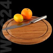 Schneidebrett Schneidbrett Vesperteller Pizzateller Holzteller BAMBUS HOLZ Ø30