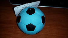 "COASTAL RASCALS 3"" BLUE LATEX SOCCER BALL DOG TOY STUFFED FREE SHIP TO THE USA"