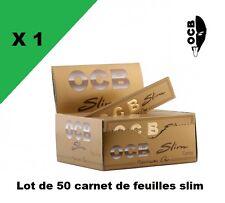 OCB Slim Gold or oro boite de 50 carnets de feuilles à rouler longue PROMO