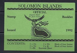 SOLOMON ISLANDS 1992 BOOKLET SB8