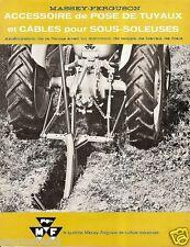 Farm Implement Brochure - Massey Ferguson - Pose de Tuyaux et Cables FR (F1013)