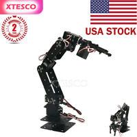 US Aluminium 6 DOF Mechanical Robotic Arm Clamp Claw Mount Robot Tool Kit Set#US