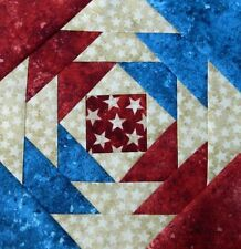 {16} Pre-Sewn Already Pieced Maxie's Pineapple Quilt Blocks Americana Stonehenge