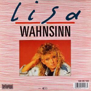 """7"""" LISA UFER Wahnsinn / Lieben heißt leben BERND JOST BELLAPHON 1988 NEUWERTIG!"""