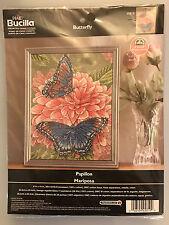 Bucilla BUTTERFLY PAPILLON MARIPOSA Cross Stitch Kit