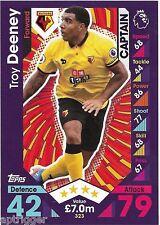 2016 / 2017 EPL Match Attax Base Card (323) Troy DEENEY Watford