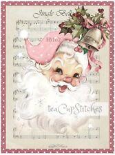 Retro Vintage Santa Claus~Jingle Bells Music~FABRIC BLOCK~Stocking~Pillow~162