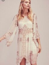 $600 Free People Kristals Limited Edition Dress Beaded Sequin Holiday Sz Medium