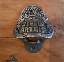 Stella Artois Cast Iron Antique Retro Style Wall Mounted Bottle Opener