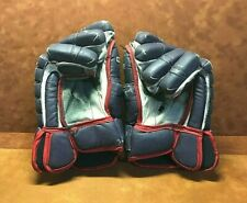 ~ Vintage CCM ~ DETROIT VIPERS Game Used Hockey Gloves ~