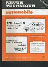 (44A)REVUE TECHNIQUE AUTOMOBILE OPEL KADETT D / RENAULT 6 L