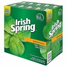 Irish Spring Deodorant Soap Original  Long Lasting Invigorating Scent 20-ct