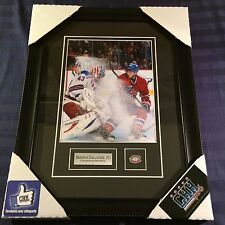 Brendan Gallagher Montreal Canadiens unsigned Frame Cadre photo vs Biron NHL