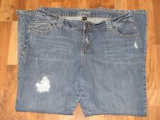 Lane Bryant Distressed Medium Wash Womens Jeans sz 20 Average (NEW)