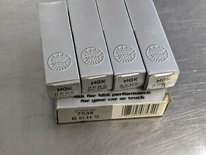 NGK B6HS 7534 Spark Plugs / New Set of Four / NO RESERVE