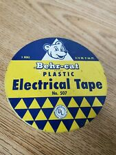 1955 Behr-Cat Electrical Tape can Behr-Manning Advertisement