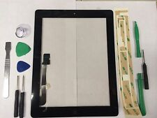Front Panel Touch Screen Glass Digitizer Home Button Assembly for iPad 3 Black