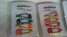 2 packs girls snap hair clips multi coloured