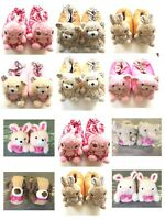 WOMENS GIRLS NOVELTY COSY 3D ANIMAL SLIPPERS SIZE UK 4 - 5 NEW *CHOOSE TYPE*