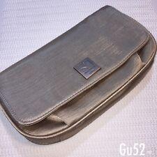 Womens Hugo Boss Orange Gold Clutch Bag Make Up Accessories Travel Magnetic