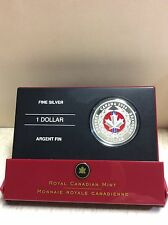 2006 - Canada's Medal Of Bravery Red - Enamelled $1.00 Proof Coin .