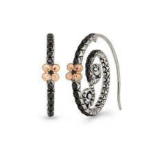 HE Barbara Bixby Black Sapphire Winding Road Earrings Sterling 18K Pink Gold