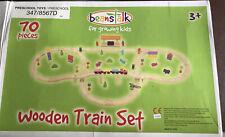 Beanstalk 70 Piece Wooden Train Set