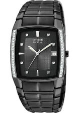 Citizen Eco-Drive S/STEEL Black Watch Diamond Set BM6645-53E 30M RRP $699