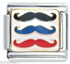 COLOURFUL MOUSTACHE - DAISY CHARM Italian Charms for Classic Size Bracelet