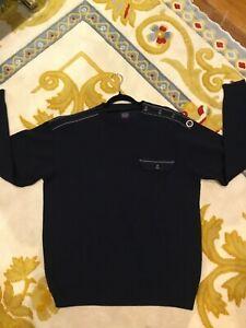 PAUL & SHARK Navy Wool Jumper Size L As New