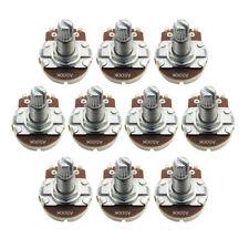 10PCS A500K Guitar Pots Potentiometers Full Size 18mm Long Split Shaft Pots