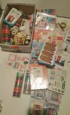HUGE Scrapbooking Crafting Lot 65+ Packages Washi Tape Puffy Stickers Tags Notes