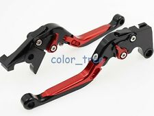 CNC Fold Extend Brake Clutch 2 Levers For Honda CB 500 VFR400 NC30 Red Mixed New