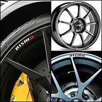 4 pcs NISMO décal sticker autocollant Nissan, 300zx 350z 370z GT-R qashqai juke