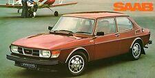 Saab 99 1977 UK Market Foldout Sales Brochure L GL EMS GLE Turbo Saloon Combi