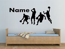 BASKETBALL PLAYERS personalised wall sticker kids bedroom wall decals custom