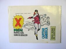 ADESIVO anni '80 / Old Sticker Vintage X MEN MARVEL GIRL UOMO GHIACCIO (cm17x12)