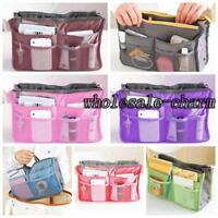 7 Colors Nylon Cosmetic Storage Bag Dual Organizer Insert mp3 phone Pouch SL
