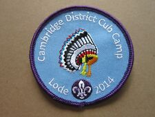 Cambridge Lode 2014 Cloth Patch Badge Boy Scouts Scouting L5K G