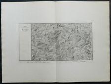 Carte militaire GOUVION SAINT-CYR 1836 ENGEN Furstenberg Blumberg Blumenfeld 8